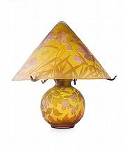 ROMANIAN CAMEO GLASS LAMP MODERN 49cm high