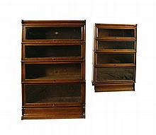 PAIR OF GLOBE WERNICKE SECTIONAL BOOKCASES 86cm wide, 146cm high, 29cm deep