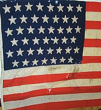 AMERICAN STARS AND STRIPES LINEN FLAG 160 x 301cm