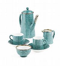 ROYAL DOULTON 'SHAGREEN' PART COFFEE SET