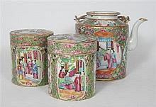 GROUP OF CHINESE CANTON FAMILLE ROSE CERAMICS 19TH CENTURY