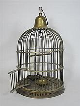BRASS BIRD CAGE 49cm high