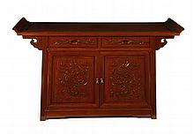 CHINESE SLOPING ALTAR TABLE 20TH CENTURY 137cm wide, 83cm high, 46cm deep
