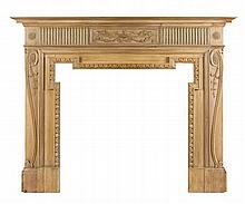 PINE FIRE SURROUND 20TH CENTURY 187cm wide, 145cm high, 30cm deep