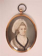 FRAMED MINIATURE ON IVORY 6.5cm long (excluding frame)