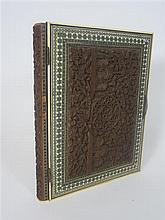 ANGLO INDIAN SADELI PHOTO ALBUM 19TH CENTURY 24 x 31cm