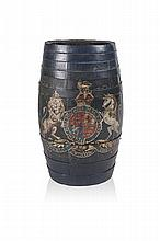 NAVAL RUM BARREL CIRCA 1850 65.5cm high, 31.5cm wide
