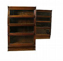 PAIR OF GLOBE WERNICKE SECTIONAL BOOK CASES 86cm wide, 146cm high, 29cm deep