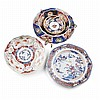 COLLECTION OF IMARI PORCELAIN DISHES largest 23cm diam.