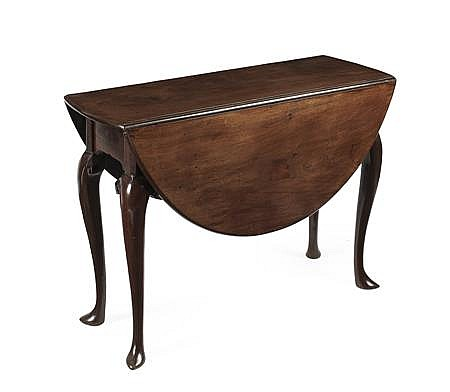 GEORGE II LABURNUM DROP LEAF TABLE 18TH CENTURY, POSSIBLY SCOTTISH 101cm wide, 71cm high, 115cm deep