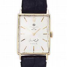 ROLEX - A Gentleman's 18ct gold cased 1960s wrist watch Case width: 23mm