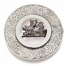 A Scottish clan buckle Diameter: 95mm