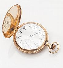 WALTHAM - An American hunter cased pocket watch Dial diameter: 41mm
