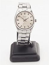 ROLEX - A gentleman's stainless steel cased wrist watch Dial diameter: 28mm