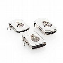 A group of three silver Vesta cases Height: 64mm