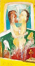 § JOHN BELLANY C.B.E., R.A., H.R.S.A. (SCOTTISH 1942-2013) THE GREAT DREAM - TRIPTYCH central panel: 173cm x 152cm (68in x 60in), si...