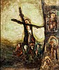 § NAEL HANNA (IRAQI/SCOTTISH B.1959) THE CRUCIFIXION 42cm x 35cm (16.5in x 13.75in), Nael Hanna, £440