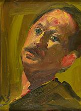 § KEVIN SINNOTT (WELSH B.1947) SELF PORTRAIT 22cm x 30cm (8.75in x 12in)