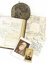 Autograph album, and other items of ephemera