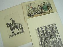 Hogarth, Kay, Geikie, Leech and Bewick - a large collection of engravings,