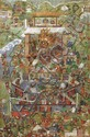 TIBETAN THANGKA DEPICTING MAHAKALA 18TH CENTURY 68cm wide, 98cm high