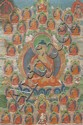 TIBETAN THANGKA DEPICTING SHAKYAMUNI BUDDHA 18TH / 19TH CENTURY 44cm wide, 64cm high