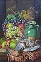 CHARLES THOMAS BALE (BRITISH FL. 1868-1892) STILL LIFE WITH AUTUMN FRUIT AND GAME 28cm x 19cm (10.92in x 7.41in), and another by the...