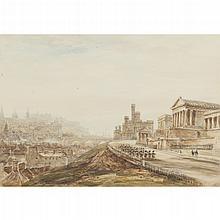 JAMES ORROCK (BRITISH 1829-1913) EDINBURGH FROM BURNS' MONUMENT and a companion a pair (2)