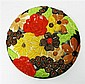 CLARICE CLIFF (1899-1972) CIRCULAR EARTHENWARE WALL PLAQUE, 1930S 33cm diameter