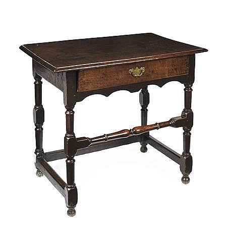 CHARLES II OAK SIDE TABLE 17TH CENTURY 84cm wide, 73cm high, 53cm deep