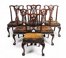 SET OF EIGHT GEORGE III STYLE MAHOGANY DINING CHAIRS 19TH CENTURY 52cm wide, 97cm high, 43cm wide