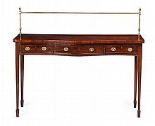 GEORGE III STYLE MAHOGANY SERVING TABLE LATE 19TH CENTURY 135cm wide, 114cm high, 60cm deep
