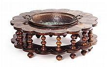 <sup>Y</sup> INDO-DUTCH CALAMANDER AND IVORY INLAY BRAZIER EARLY 18TH CENTURY 80cm diameter, 27cm high