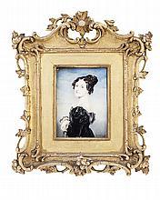 <sup>Y</sup> ENGLISH SCHOOL, PORTRAIT MINIATURE OF SUSAN EUPHEMIA DOUGLAS-HAMILTON (NEE BECKFORD), DUCHESS OF HAMILTON (1786-1859) 19TH