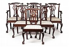 SET OF SIX GEORGE III STYLE MAHOGANY DINING CHAIRS EARLY 20TH CENTURY 56cm wide, 96cm high, 45cm deep