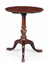 GEORGE III MAHOGANY PIECRUST TRIPOD TABLE 18TH CENTURY 55cm wide, 68cm high, 55cm deep