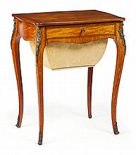 VICTORIAN SATINWOOD WORK TABLE 19TH CENTURY 58cm wide, 73cm high, 42cm deep
