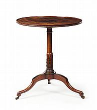 GEORGE III MAHOGANY AND BRASS MOUNTED TRIPOD TABLE EARLY 19TH CENTURY 61.5cm diameter, 71cm high
