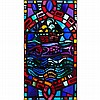 § WILLIAM WILSON (1905-1972) STAINED AND LEADED GLASS PANEL, CIRCA 1954 91cm x 48cm, William (1905) Wilson, £2,600