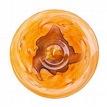 SOCIETÉ ANONYME DES VERRERIES SCHNEIDER, FRANCE GLASS DISH, CIRCA 1920 30.5cm diameter