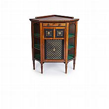 BRUCE TALBERT (1838-1881) FOR GILLOWS, LANCASTER AESTHETIC MOVEMENT WALNUT EBONISED AND GILT CORNER CABINET, CIRCA 1875 77.5cm wide,...