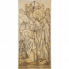 JAMES POWELL & SONS CARTOON FOR STAINED GLASS, LATE 19TH CENTURY 130cm x 57cm