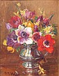 KATE WYLIE (SCOTTISH 1877-1941) ANEMONES 24.5cm x 19.5cm (9.75in x 7.75in)