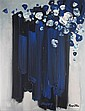 STANISLAUS RAPOTEC (AUSTRALIAN 1913-1997) STILL LIFE OF BLUE FLOWERS 135cm x 104cm (53.25in x 41in)