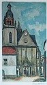 JACQUES VILLON AFTER MAURICE UTRILLO L'EGLISE DE LIMOURS 52cm x 30cm (20.5in x 12in)