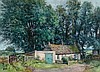 § JAMES MCINTOSH PATRICK R.S.A., R.O.I., R.G.I. (SCOTTISH 1907-1998) THE FARMYARD, SOUTH BALLUDERON 51cm x 71cm (20in x 28in)