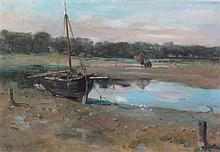 § ANNA DIXON R.S.W. (SCOTTISH 1873-1959) LOWTIDE 29cm x 43.5cm (11.5in x 17in)