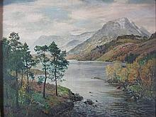§ GEORGE MELVIN RENNIE (SCOTTISH 1874-1953) LOCH AFFRIC 46cm x 61.5cm (18in x 24.25in)