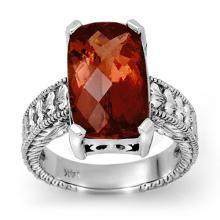 14K White Gold Jewelry 9.0 ctw Rubellite Ring - SKU#U86H0- 99735