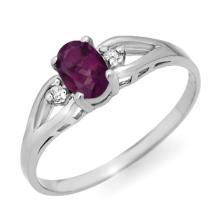 10K White Gold Jewelry 0.53 ctw Amethyst & Diamond Ring - SKU#U5T4- 90080